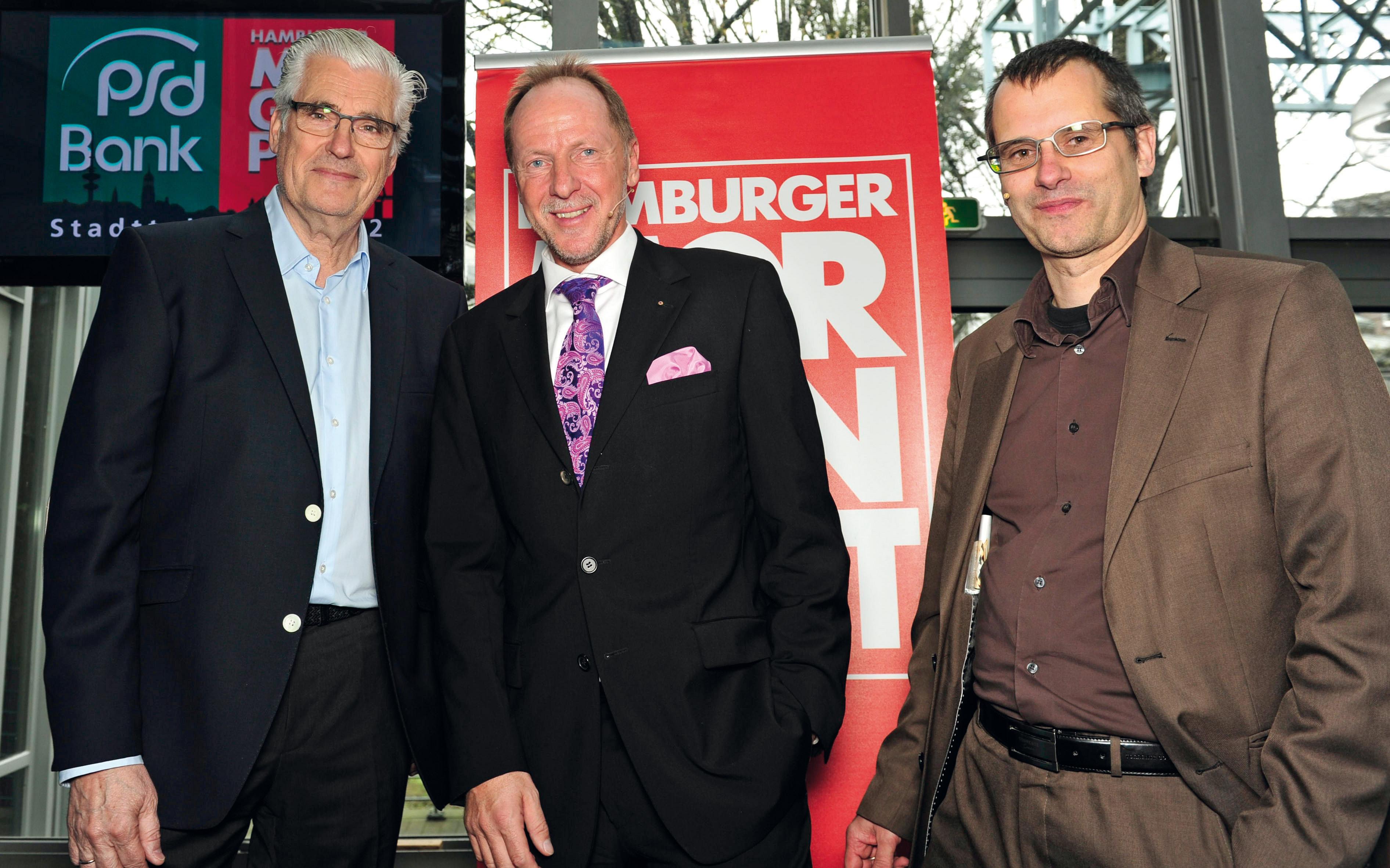 Schaupieler Sky Du Mont, Dieter Jurgeit und Frank Wieding Hamburger Morgenpost
